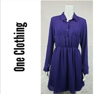 One Clothing Button Down Dress Size Medium